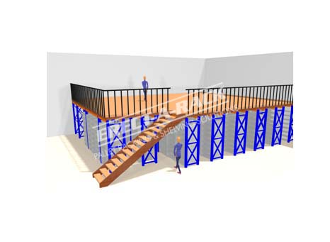 Warehouse storage design mezzanine floor design erect for Warehouse layout software free