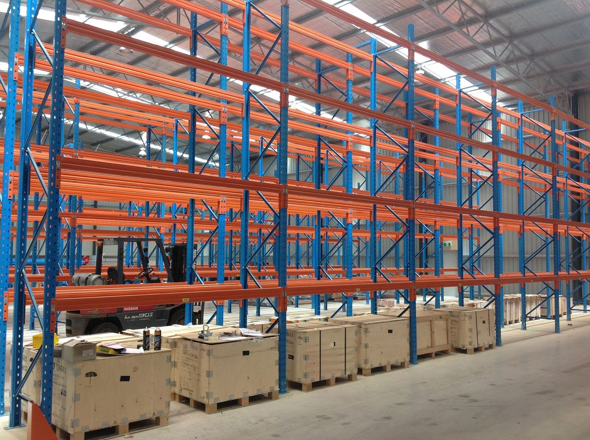 Erect a rack second hand pallet racking 1 for Warehouse racking layout software free