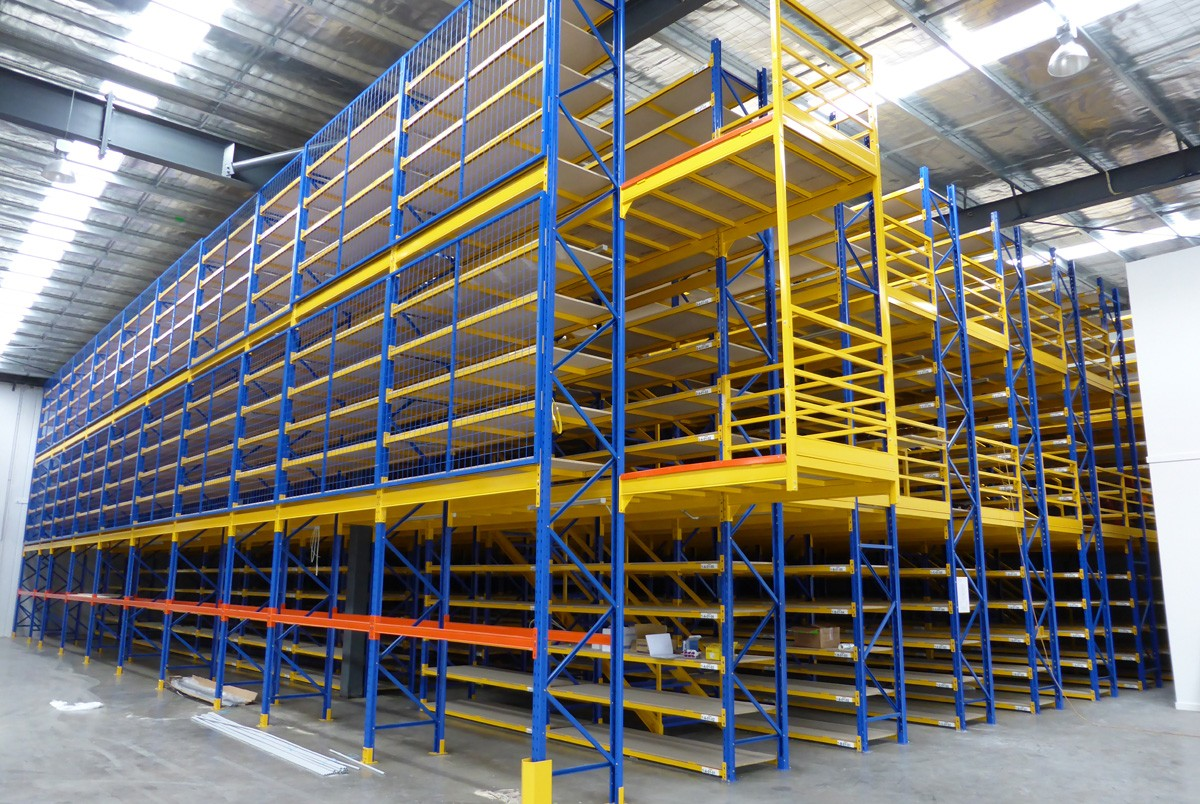 Mezzanine Floors Services : Rack supported flooring system